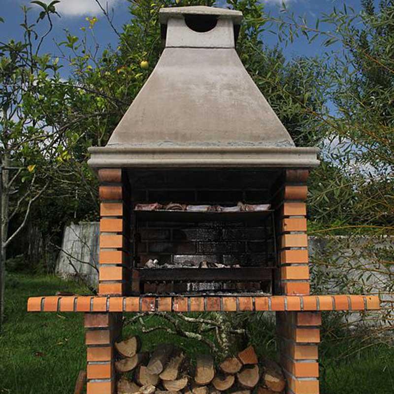 barbacoa de piedra para jardin